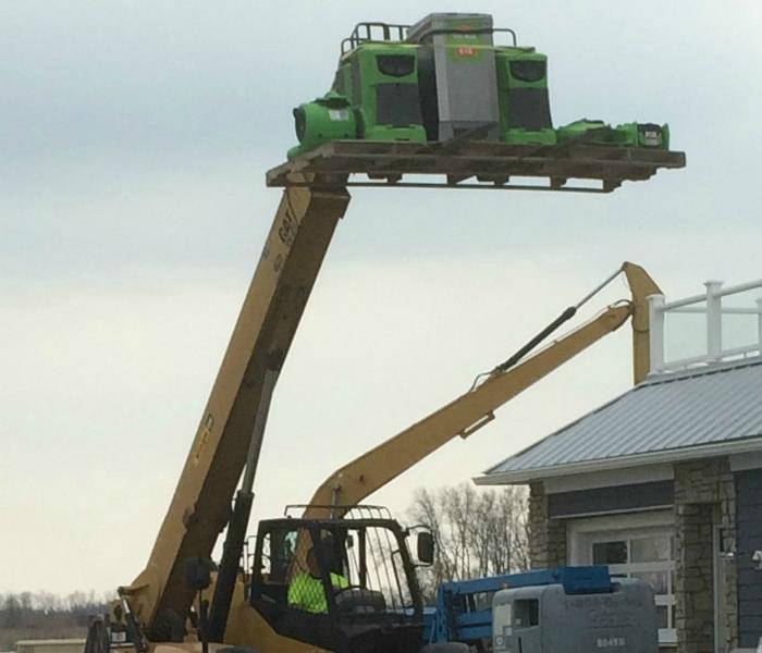SERVPRO Equipment Getting a Lift