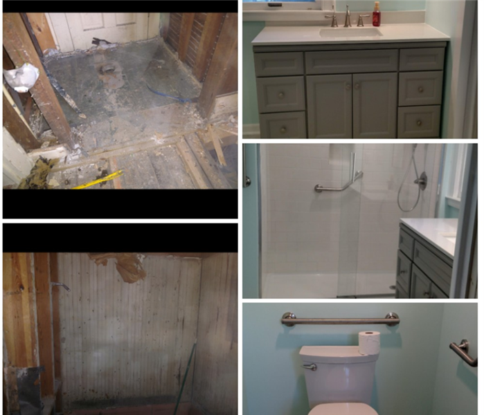 bathroom flood remodel